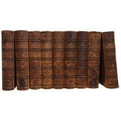 20th Century Collection of Nine Leather Bound Encyclopedia's