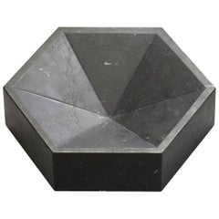 Constellation Marble Bowl, Large Low in Nero Marquina, Lara Bohinc for Lapicida