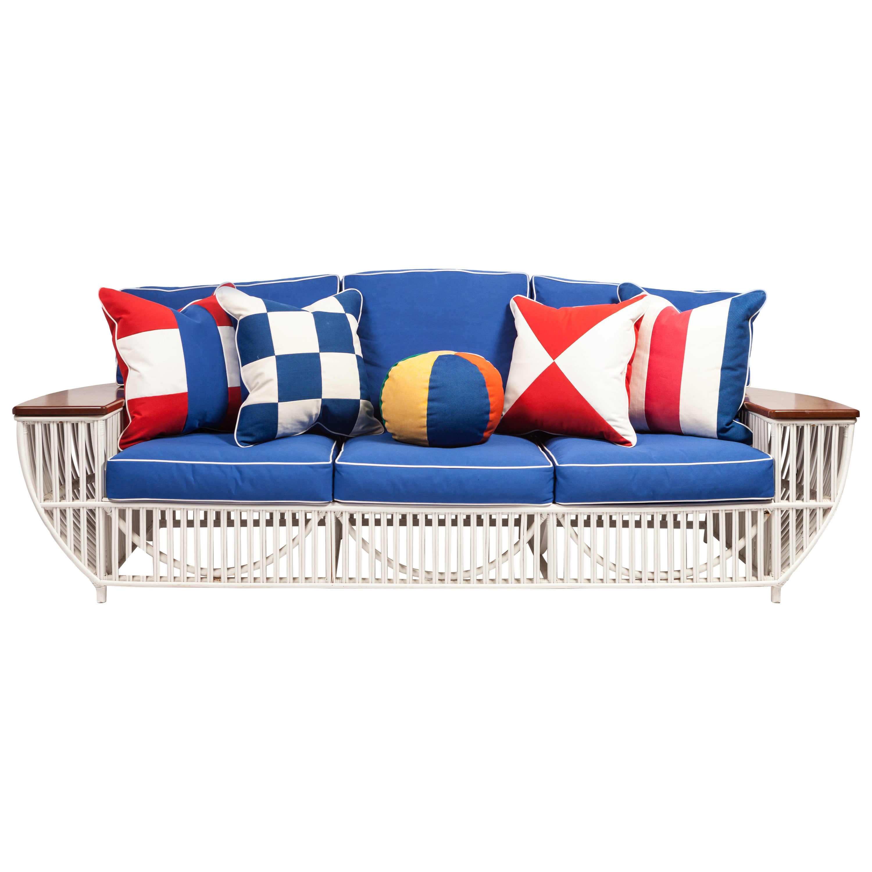 Custom Nine Piece Bielecky Rattan Suite One Sofa, Four Armchairs, Four