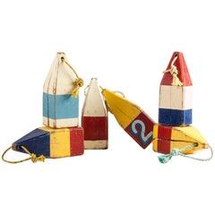 Charming Set of Six Vintage Buoys