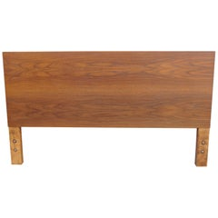 Full-Size Walnut Headboard by George Nelson for Herman Miller