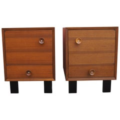 Pair of Walnut Nightstands, Model 4617 by George Nelson for Herman Miller