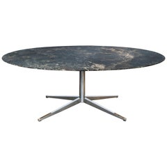 Florence Knoll Dining Table or Desk with Marble Top