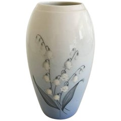 Bing & Grondahl Vase No. 67/251 with Lily of the Valley Flower Motif