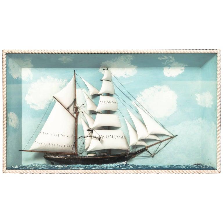 "Large 20th Century ""Lydia"" Ship Diorama"