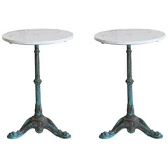 Early 20th Century Pair of Cafe Tables