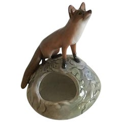 Royal Copenhagen Art Nouveau Fox on Mount #546