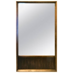 American Mid-Century Modern Walnut and Rosewood Mirror from Klassik