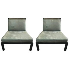 Pair of Slipper Chairs by Baker