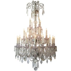 20th Century Baccarat Quality Crystal Chandelier