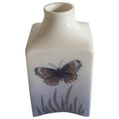 Royal Copenhagen Art Nouveau Vase with Butterfly #188/653