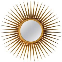 Sunburst Mirror in Antique Gold Metal Leaf