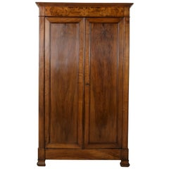 Small Scale Mid-19th Century French Louis Philippe Period Walnut Armoire