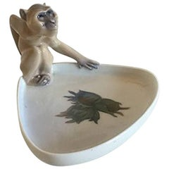 Royal Copenhagen Art Nouveau Monkey Dish #692