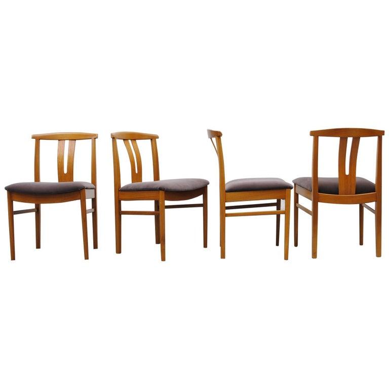 Set of Four Hans Wegner Style Wishbone Backed Dining Chairs