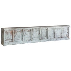 19th Century Antique White-Washed Sideboard