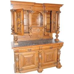 Italian Renaissance Style Carved Oak Sideboard, 1890s