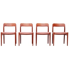 Set of Four Niels O. Møller Model 75 Dining Chairs in Teak