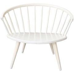White Mid-Century Modern Arka Chair by Yngve Ekström for Stolab, 1950s