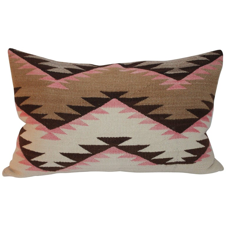 Navajo Indian Weaving Large Bolster Pillow For Sale