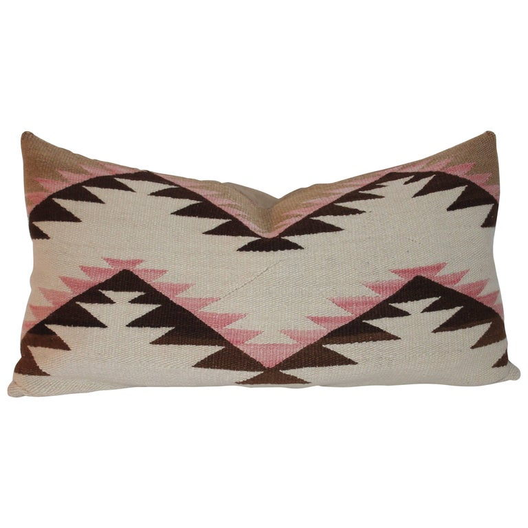 Navajo Indian Weaving Early Bolster Pillow For Sale