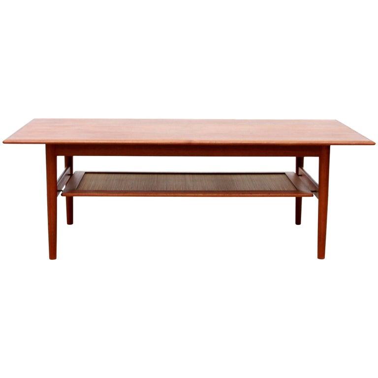 Orla Retro Coffee Table: Teak Coffee Table By Peter Hvidt And Orla Mølgaard Nielsen