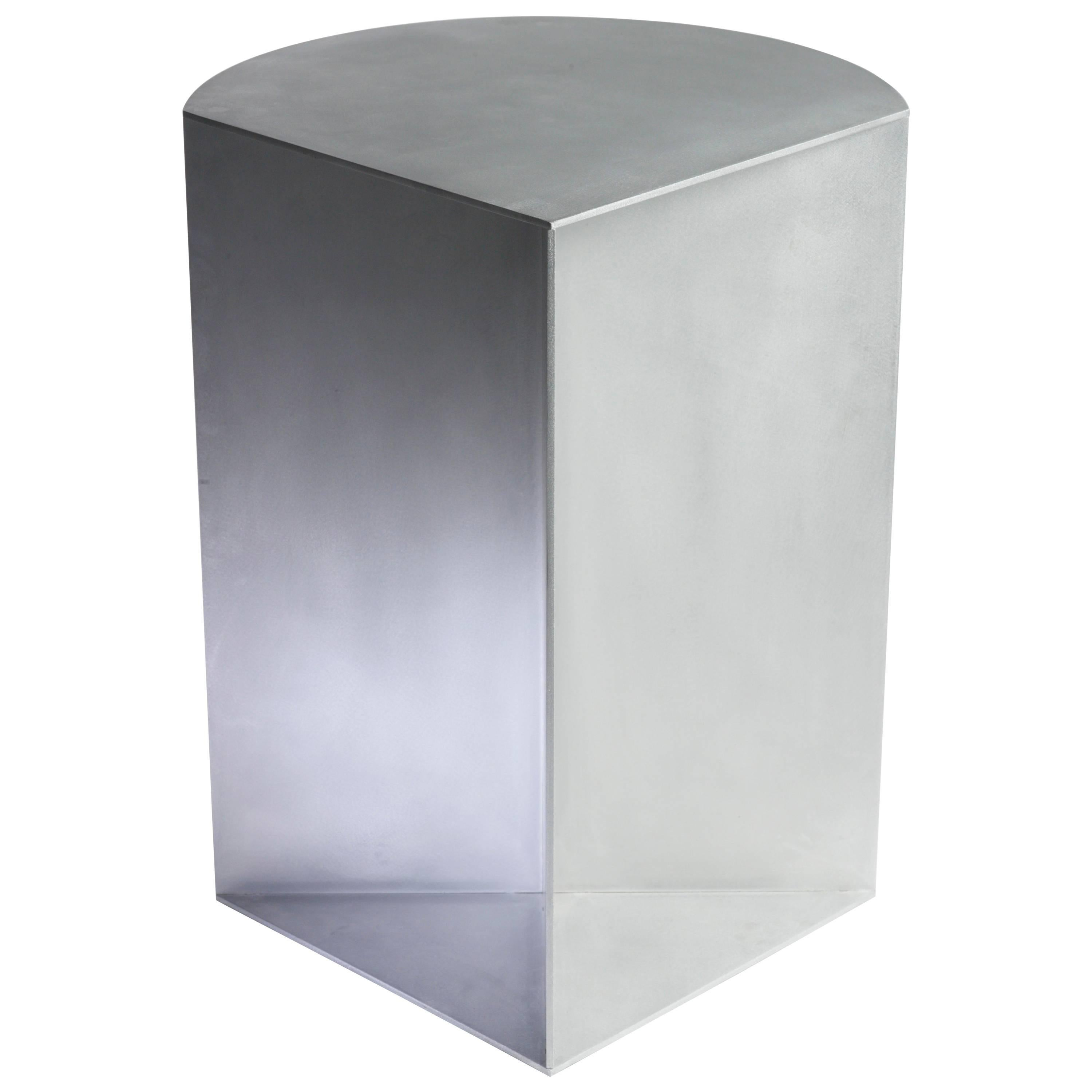 Infield Pedestal in Waxed and Polished Aluminum Plate by Jonathan Nesci