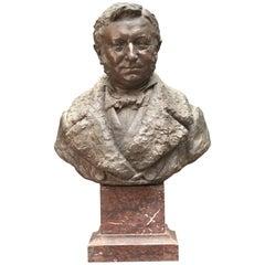 Buste of the Painter Frantz Charlet by Sculptor Jean Herain-Cie Des Bronzes