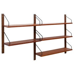 "Poul Cadovius for Cado ""Royal System"" Two Modular Wall Shelves, 1948"