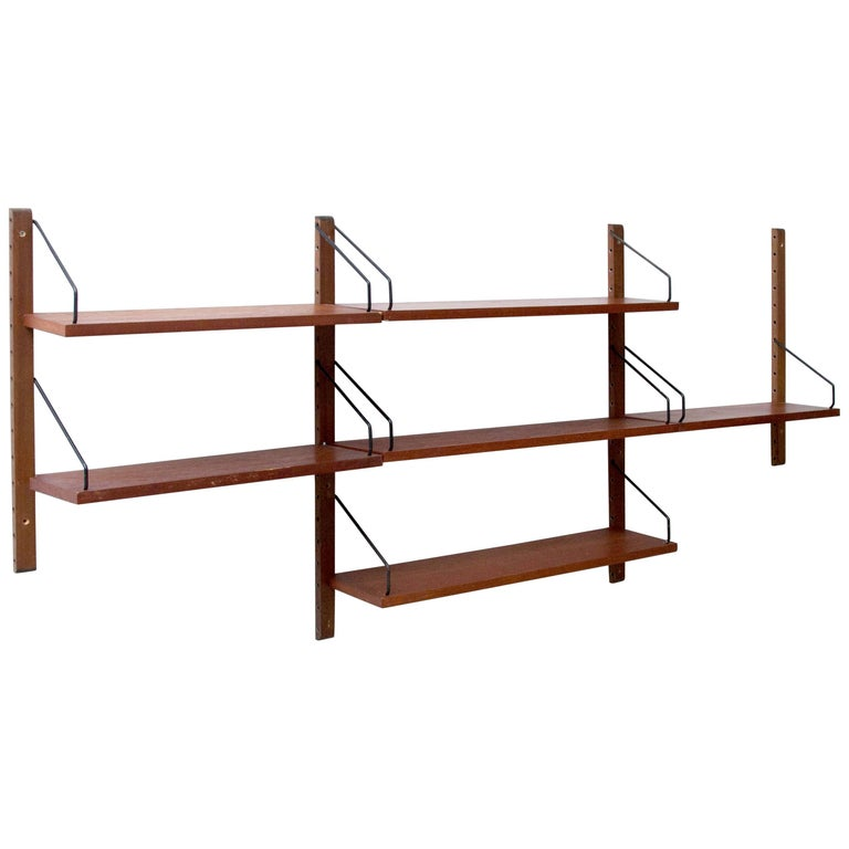 "Poul Cadovius for CADO ""Royal System"" 3 Modular Wall Shelves 1948"