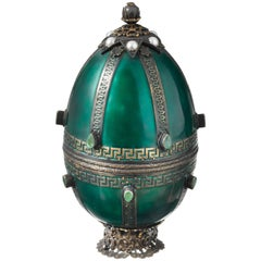 Russian Style Gemstone and Enamel Easter Egg