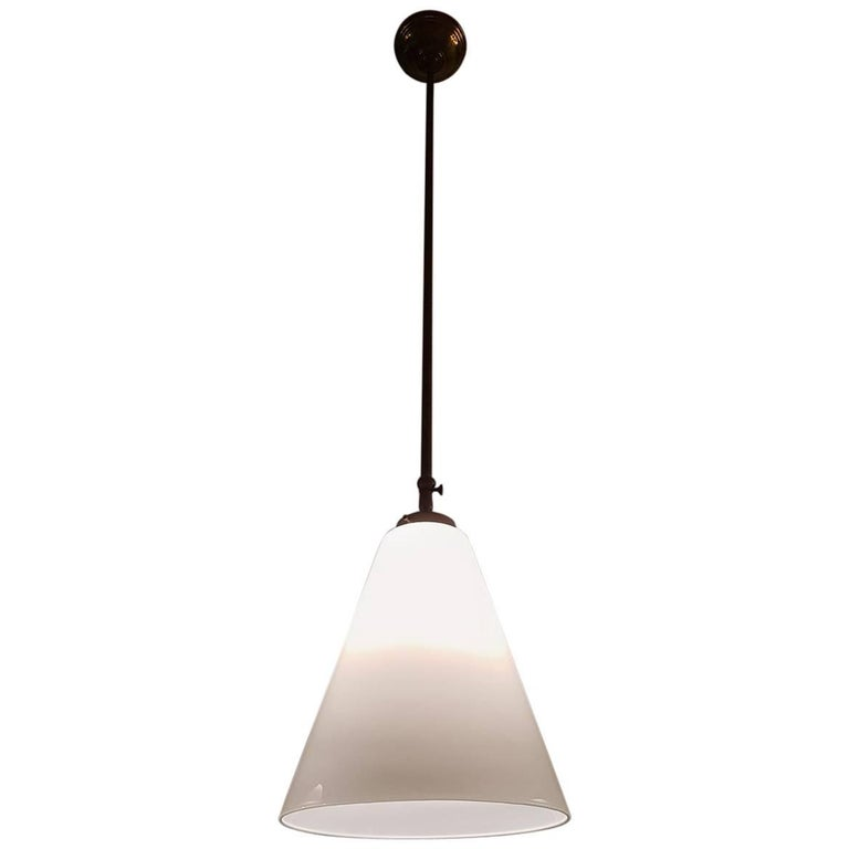Vintage Pendant with Cone Shaped Glass Hood