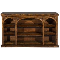 Early 19th Century Regency Period Rosewood Open Dwarf Bookcase