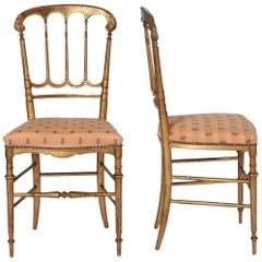 Pair of Giltwood Salon Chairs