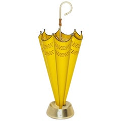 Yellow Umbrella Stand, 1950s, Italy