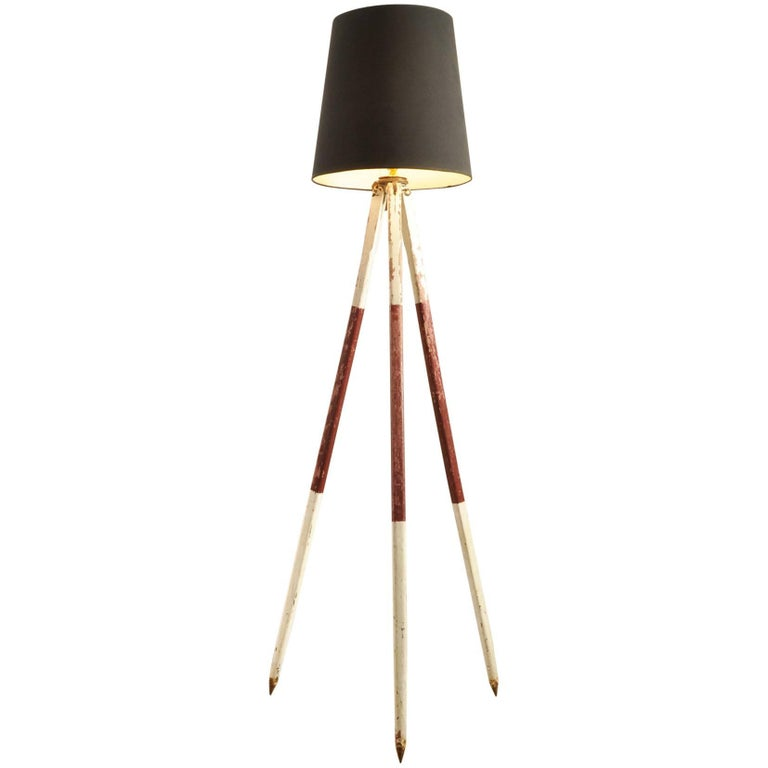 Converted Tripod Lamp For Sale