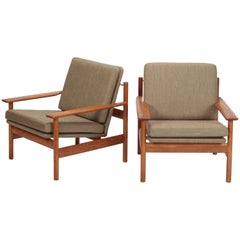 Pair of Sven Ivar Dysthe Chairs by Dokka Mobler, 1950s