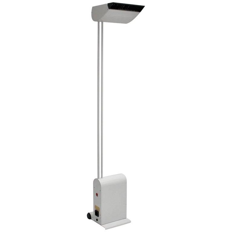 White Floor Lamp by Hartmut Engel, 1985 For Sale