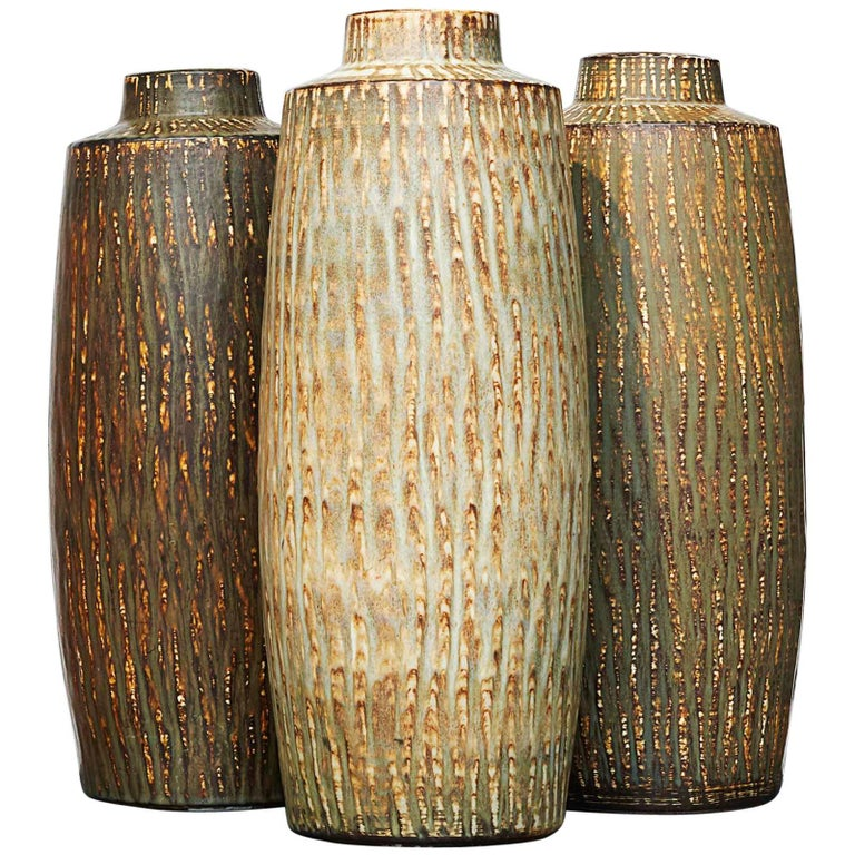 "Large Vases by Gunner Nylund ""Rubus"" For Sale"