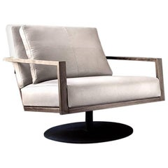 Contemporary STM Full Arm Swivel Base Armchair