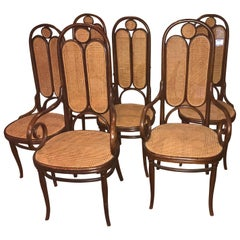 Thonet nr 16 '4+2' Christal Palace 1870 Signed First Label Stamped New Caning