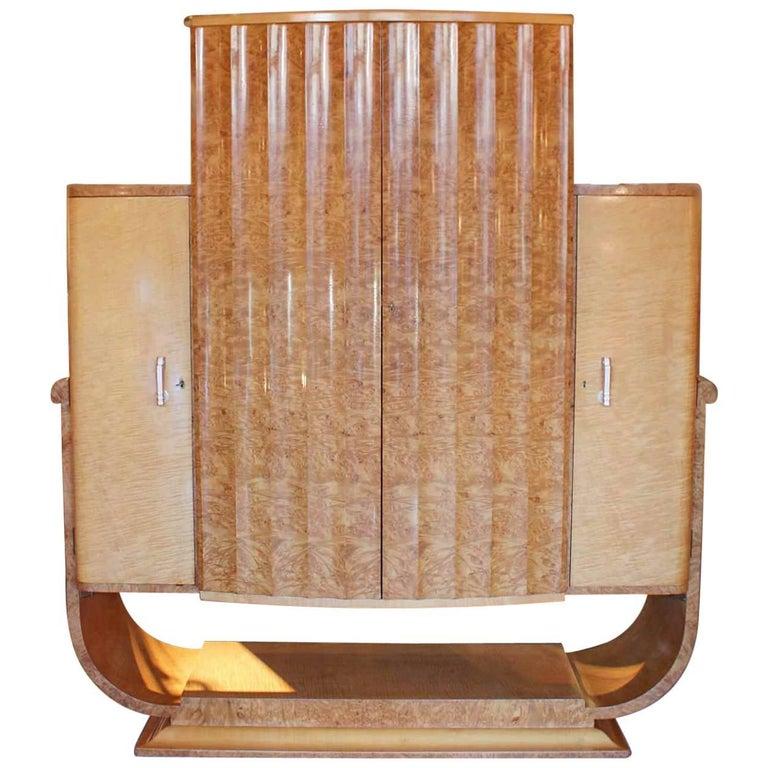 Art Deco Cocktail Cabinet For Sale