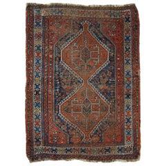 Handmade Antique Persian Shiraz Rug, 1910s