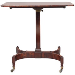19th Century Rosewood Adjustable Table