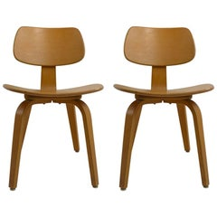 Pair of Thonet Midcentury Bentwood Chairs