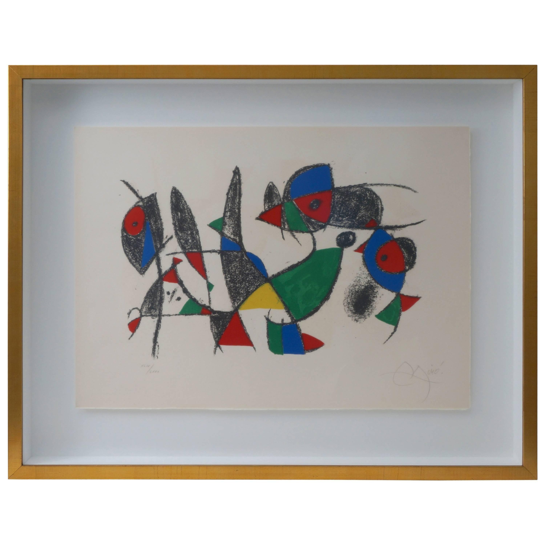 Lithograph by Joan Miro, circa 1975, Lithographs II, Plate 10
