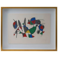 Lithograph by Joan Miro, circa 1975, Lithographs II, Plate 10