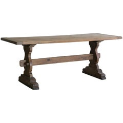 Early 20th Century Vintage Oak Dining Table