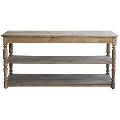19th Century Antique Oak Drapery Table