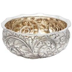 Art Nouveau Sterling Silver Centrepiece Bowl